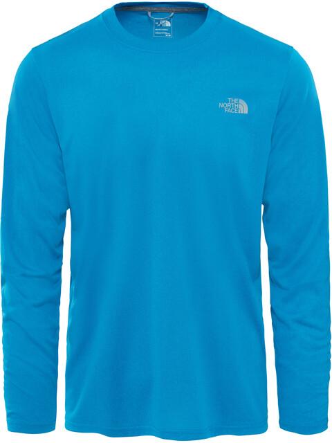 The North Face Reaxion Amp Crew Hardloopshirt lange mouwen Heren blauw